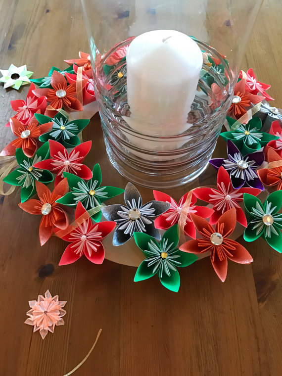 DIY Origami Christmas Wreath - great decoration for the Holidays ... | 760x570