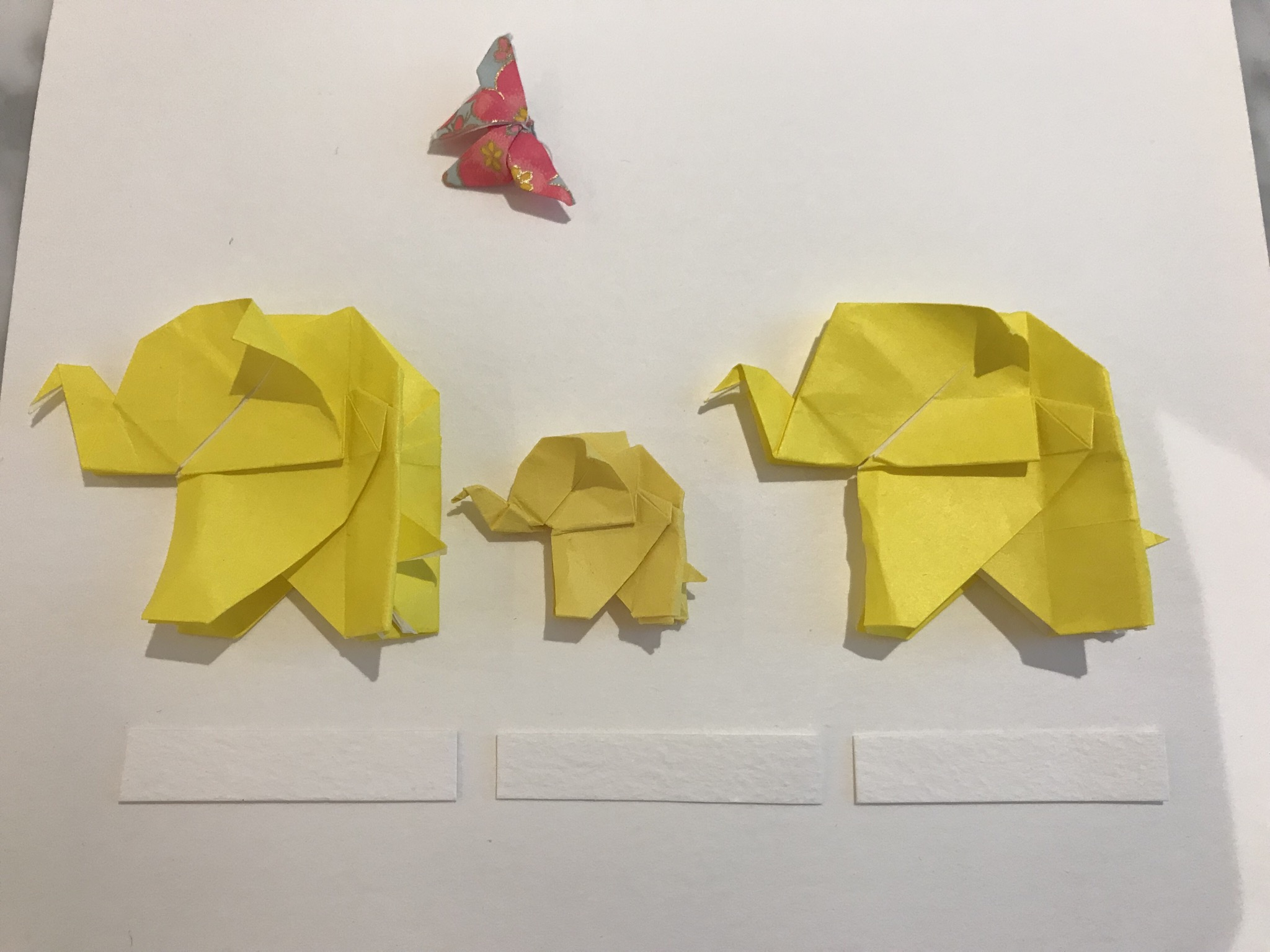 Origami Elephant Family Special Framed Picture - Alice Sushi Art